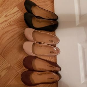 3 pairs of flats NWOT